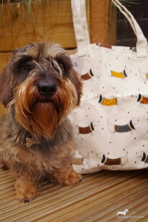 Sainsburys Sausage Dog Jute Bag
