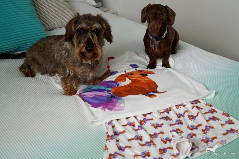 M & Co Sausage Dog Pajamas